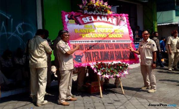 Djoko Santoso Anggap Karangan Bunga PDIP Lambang Kematian