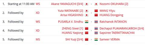 Jadwal Semifinal BWF World Tour Finals: Jepang 7, Tiongkok 5