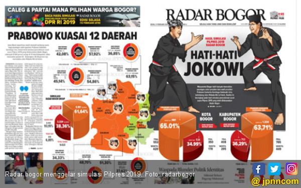 Jokowi Kalah Simulasi Pilpres 2019 di Jabar, Reni: 02 Turun