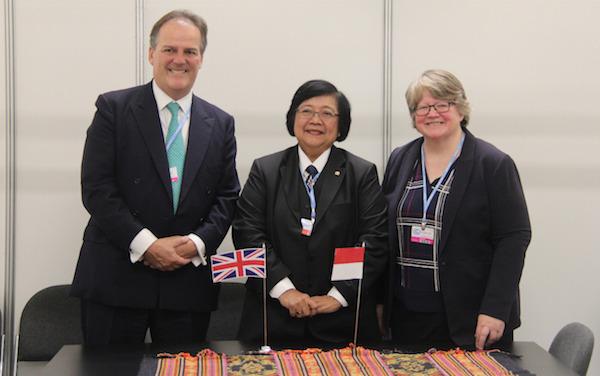 Indonesia - Inggris Perkuat Kerja Sama Sektor LHK