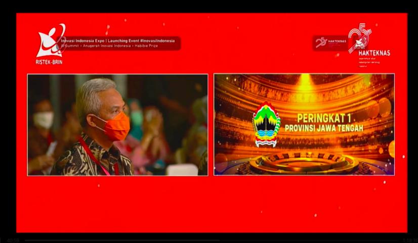 Keren! Pemprov Jateng Dapat Penghargaan dari Kemenristekdikti