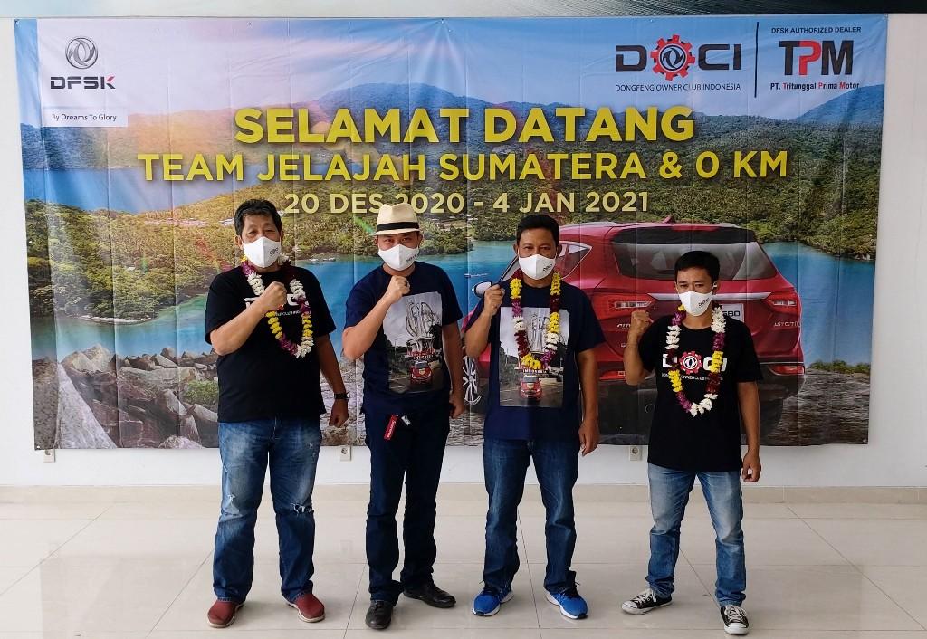 Member DOCI Uji Ketangguhan DFSK Glory 580 Jelajah Sumatera