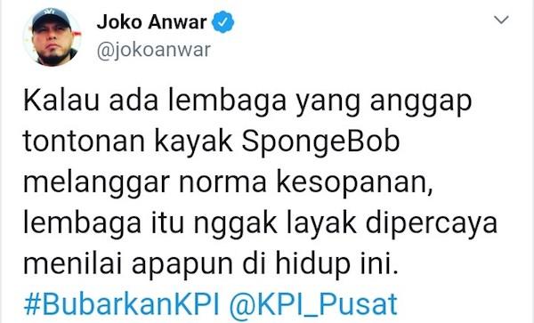 Joko Anwar Dukung Bubarkan KPI