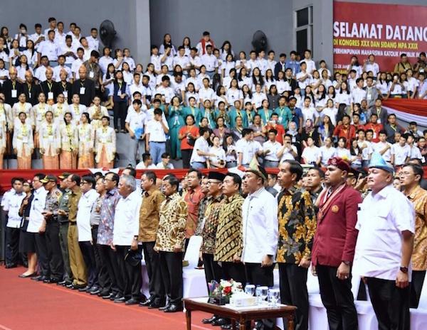 Jokowi Menjadi Presiden Pertama Buka Kongres Nasional PMKRI