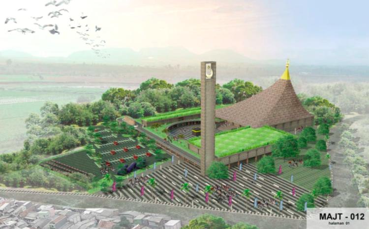 Ganjar Bingung Memilih di Antara Tiga Desain Terbaik Masjid Agung Jateng di Magelang