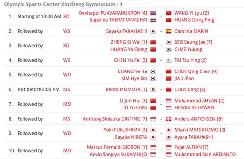 Jadwal Semifinal China Open 2019, Mulai Pukul 9 Pagi Ini