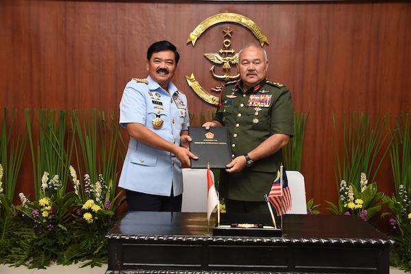 TNI dan Tentara Malaysia Komitmen Menjaga Kawasan ASEAN