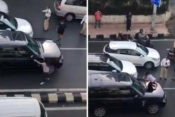 Pergoki Suami Bawa Wanita Selingkuhan, Istri Murka Naik ke Atas Kap Mobil di Tengah Jalan
