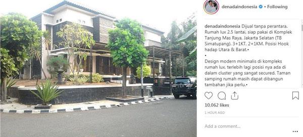 Selain Apartemen, Denada Jual Rumah Mewahnya