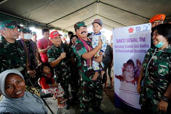 Dharma Pertiwi TNI Gelar Baksos Cegah Stunting di Lombok