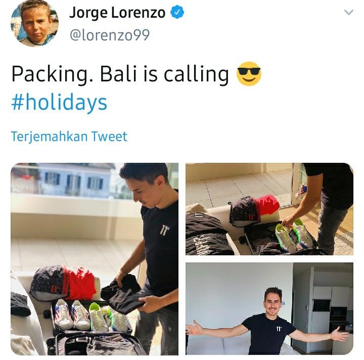 Lorenzo Memilih Berlibur ke Bali Usai Mengumumkan Pensiun