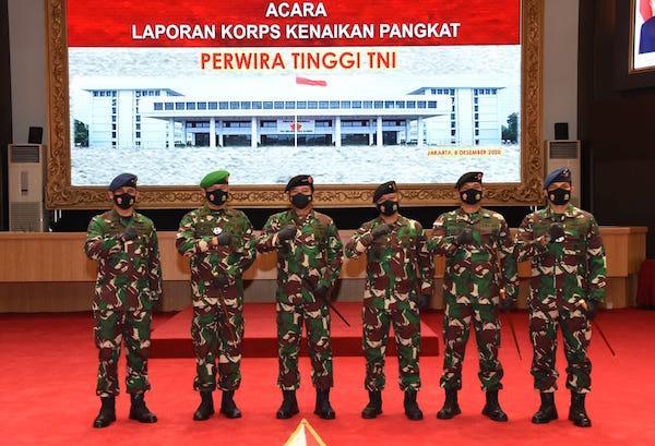 Sah, 26 Perwira Tinggi TNI AD Termasuk Letjen Herman Asaribab Resmi Naik Pangkat