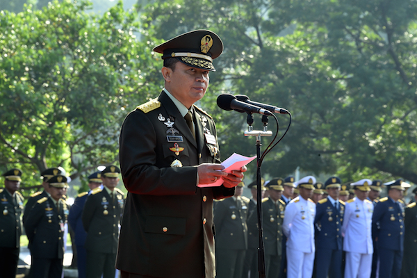 Teguh Pimpin Upacara Peringatan Hari Pancasila di Mabes TNI