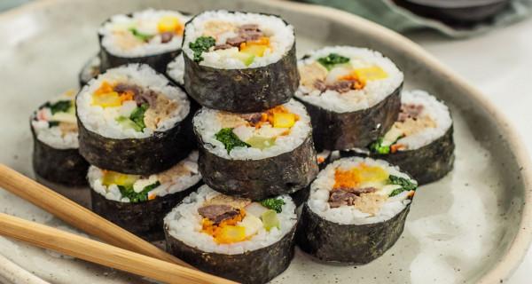 Kimbab Sushi Khas Korea, Resepnya Cocok Untuk Diet - GenPI.co