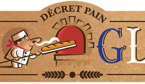 Ada Gambar Kartun Chef Menghirup Aroma Roti Di Halaman Utama Google