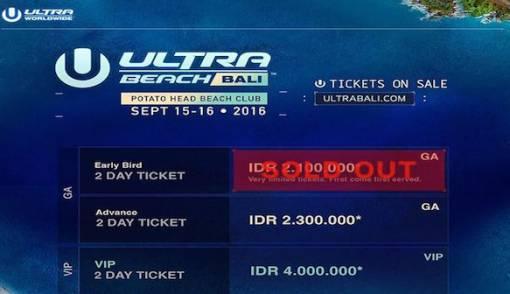 Line Up Belum Diumumkan, Tiket Early Bird Ultra Beach Bali Ludes - JPNN.COM