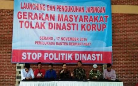 Warga Banten Buat Gerakan Tolak Dinasti Korupsi