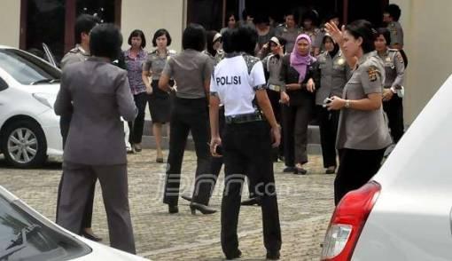 Foto Brigadir RS Disebar, Pertemuan Polwan Lampung Digelar - JPNN.COM