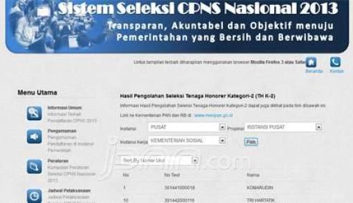 Pengumuman CPNS Honorer K2 Sudah Bisa Dilihat - JPNN.COM