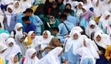 Jelang Ujian Nasional, Pelajar SMP-MTs Batam Doa dan Dzikir Bersama - JPNN.COM