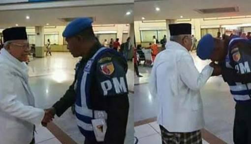 TNI Cinta Ulama, Personel Denpom Cium Tangan Kiai Ma'ruf Amin - JPNN.COM