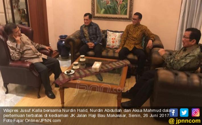 Pak JK Pertemukan 2 Kandidat Kuat Cagub Sulsel, Ini yang Dibicarakan