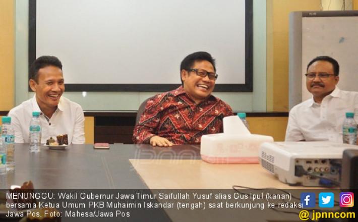 Gus Ipul Tunggu Pendamping, Khofifah Menanti Izin Jokowi