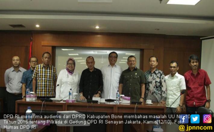 DPD RI Terima Delegasi DPRD Kabupaten Bone Membahas Pilkada