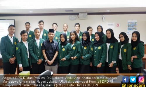 Senator DKI Memotivasi Mahasiswa agar Bercita-cita Tinggi