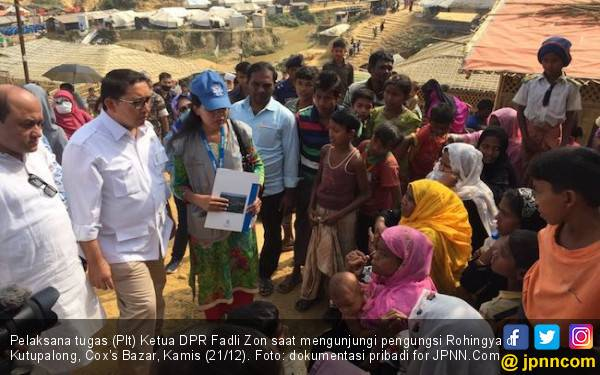 Fadli Zon Blusukan di Kamp Rohingya, Begini Ceritanya - JPNN.com