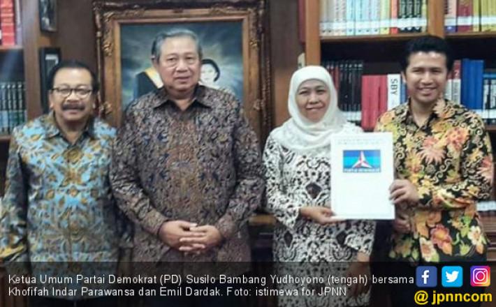 SBY dan AHY Bakal Turun Langsung demi Duet Khofifah-Emil