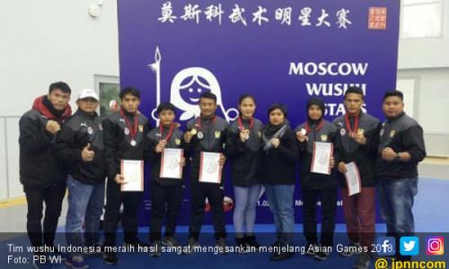 Jelang Asian Games 2018, Timnas Wushu Sabet 3 Emas di Rusia