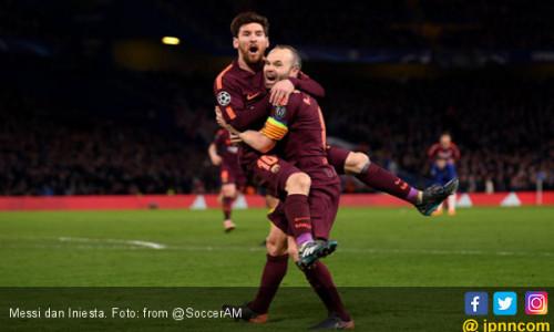 Pensiun Usai Piala Dunia 2018, Iniesta Pengin Lawan Messi