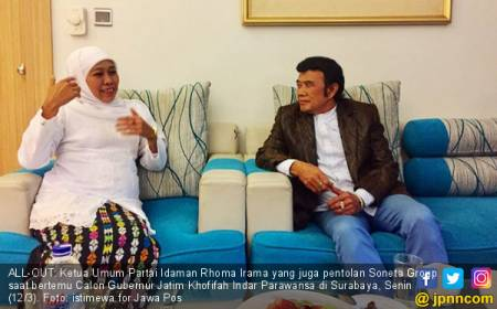 Bang Rhoma dan Soneta Bakal All-Out demi Khofifah-Emil