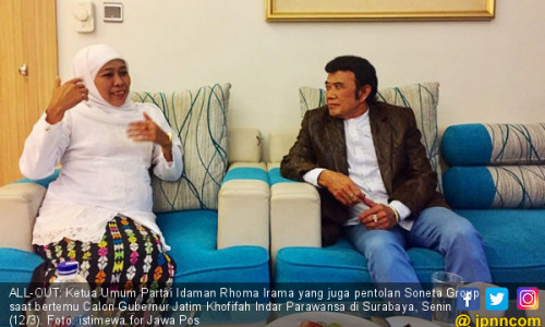 Bang Rhoma dan Soneta Bakal All-Out demi Khofifah-Emil
