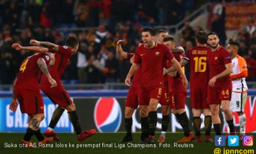Dzeko jadi Pahlawan, AS Roma ke Perempat Final