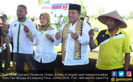 Duet Arinal-Nunik Yakin Bisa Bikin Petani Lampung Berjaya