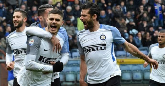 Bintang Inter Milan Mauro Icardi (tengah). Foto: AFP