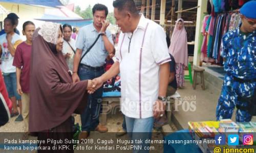 Pilgub Sultra 2018: Asrun Berperkara, Hugua Blusukan