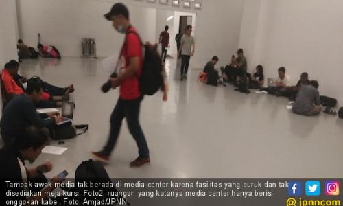 Fasilitas Media Center Laga BFC vs Persija Sangat Buruk