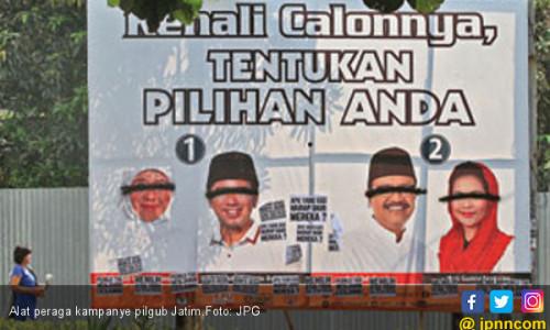 KPU Polisikan Perusak Baliho Pilgub Jatim