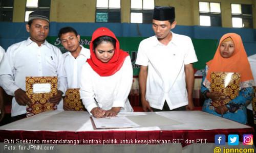 Puti Soekarno Tanda Tangani Kontrak Politik Demi GTT dan PTT