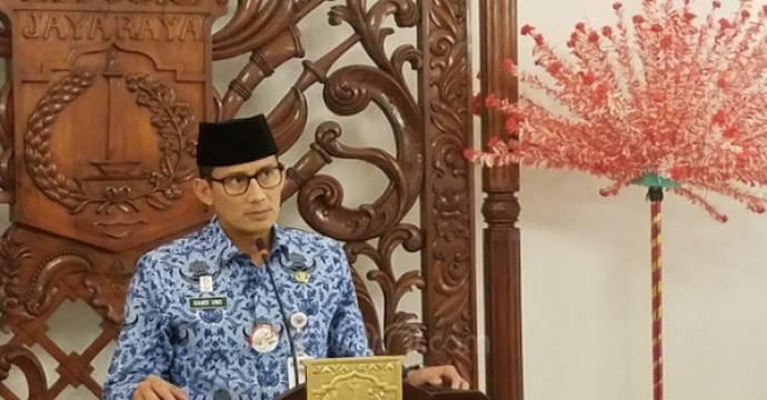 Wakil Gubernur DKI Sandiaga S Uno di Balai Kota Jakarta, Rabu (2/5). Foto: Fathan Sinaga/JPNN.Com