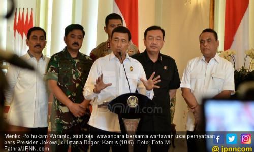 Respons Wiranto soal Desakan Ganti Kapolri dan Kepala BIN
