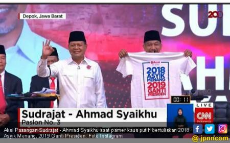 Debat Pilkada Jabar Ricuh Gara-gara 2019 Ganti Presiden