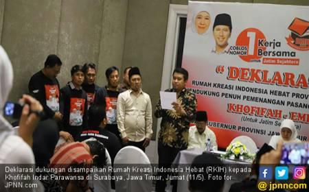 Khofifah Dapat Dukungan Lagi dari Relawan Jokowi