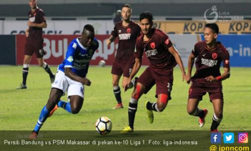 Hasil Liga 1 2018: Persib Bandung Hantam PSM Makassar 3-0