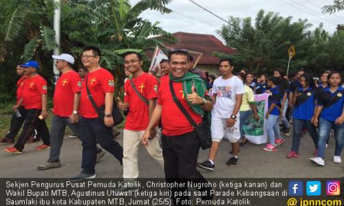 Pemuda Katolik dan Pemda MTB Gelar Parade Kebangsaan