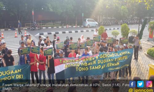 Forwaja Desak KPK Usut Bunga Palsu dan Tong Sampah Jerman