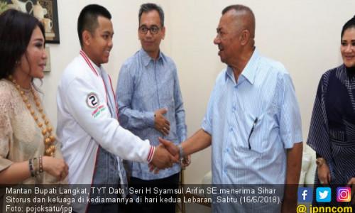 Lebaran, Syamsul Arifin Terharu Dikunjungi Sihar Sitorus